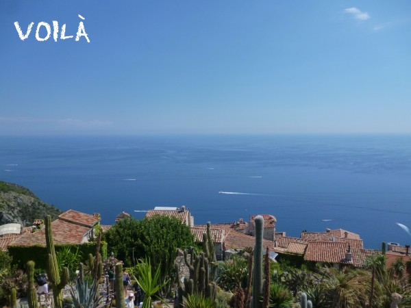 Eze Village- Beautiful view of the village and the sea.