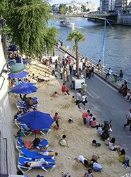 Paris- Beach along the Seine